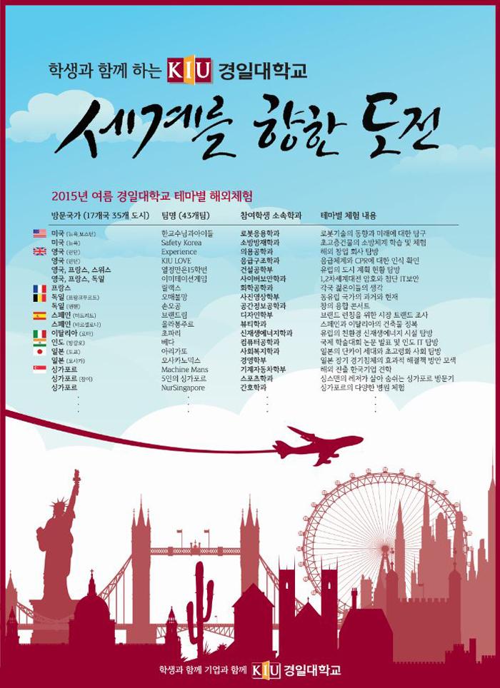 2015년 여름 테마별 해외체험